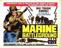 MARINE BATTLEGROUND - Jock Mahoney - Pat Li - Mason Distributing Corp. - Movie Poster.