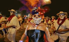 The 6th Annual Día de Los Muertos Dance Party at Central Market North takes place Friday, Nov. 1, 2013, from 6-9 p.m. Enjoy a Brazilian carnival style parade with the Austin Samba School and giant Day of the Dead puppets from Las Monas. DJ King Louie spins Latin favorites. #Austin #ATX #Free