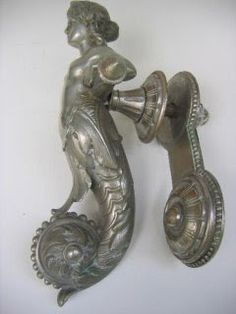 antique door knockers | Antique Mermaid Door Knocker