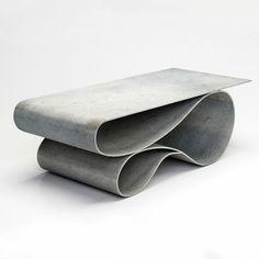 Стол и консоль: послушный бетон Нила Ароновица | AD Magazine