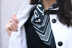 marais korea seoul brand korean fashion style simple minimalist minimal black and white daily look bandana rare market dami kwon jessica jung onnu nail