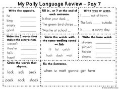 Printables Daily Oral Language 3rd Grade Worksheets Free daily oral language quiz school pinterest quizes 2nd set of my review book 14 days repeated practice with