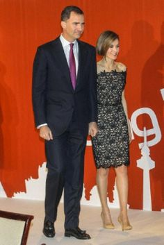 Spanish Crown Prince Felipe and Crown Princess Letizia attends the Delivery of the 15th edition of the National Young Entrepreneur Award at Villamagna Hotel, 27.03.14