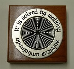 It Is Solved By Walking Labyrinth Paperweight, Chartres Catherdral, labyrinth puzzle, medieval cathedral floor with labyrinth, museum store ...