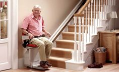 Has becoming up and down stairs in your Santa Barbara home become challenging? A stair lift give more freedom, and can make you safer Home Upgrades, Home Design, Stair Elevator, Stair Lift, Assisted Living Facility, Used Chairs, Stairs Architecture, Interior Stairs, House Stairs