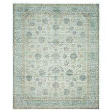 Safavieh - Floral Rectangular Area Rug in Light Blue and Turquoise