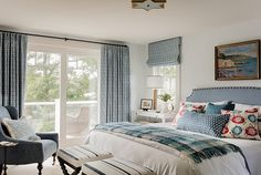 traditional bedroom, cape cod home, blue and white bedroom, coastal style, coastal bedroom, beach style