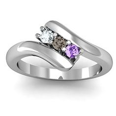 Daughters Pride Ring Three Stone Classic Bypass Ring #jewlr