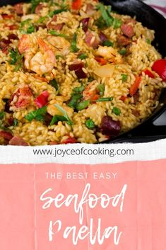 The Best Easy Seafood Paella The one and only seafood paella recipe you will need! Perfect for your next pot luck party! Shellfish Recipes, Seafood Recipes, Easy Seafood Paella Recipe, Oven Chicken Recipes, Cooking Recipes, Healthy Recipes, Seafood Appetizers, Seafood Dishes