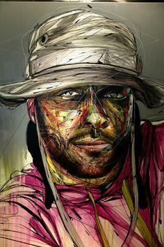 Hopare - street art expo - paris 14, la coupole (juin 2013)
