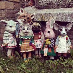 Annie Montgomeri creates very unique dolls.