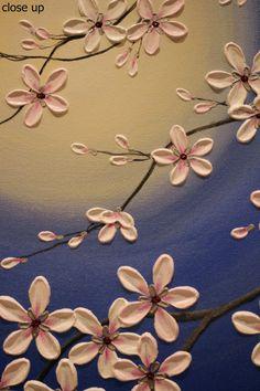 Original pintura moderna del arte de empaste en galería