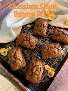 Banana bread is the ultimate in easy baking, luxuriously satisfying comfort food. Imagine what happens when you add gooey chocolate chunks to the mix... Sweet, decadent, banana bread perfection!   This Chocolate Chunk Banana Bread bakes up wonderfully as a full-sized loaf or adorable and convenient mini-loaves.  #mysweettoothbakery #bananabread #chocolatebananabread #chocolatechunkbananabread #bananasandchocolate #breakfastbread #bananaloaf #breakfastideas Chocolate Banana Bread, Bread Baking, Sweet Tooth, Bakery, Cooking, Mini, Easy, Desserts, Food