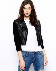 Barneys Originals Olivia Jacket with Suede Sleeves