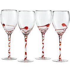 Fun holiday wine glasses.