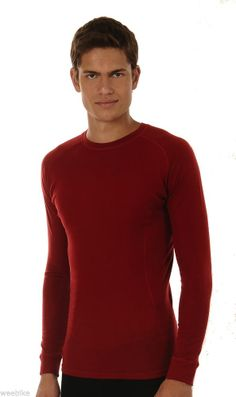 Hasyun MENS 100% MERINO WOOL Long Sleeve Base Layer