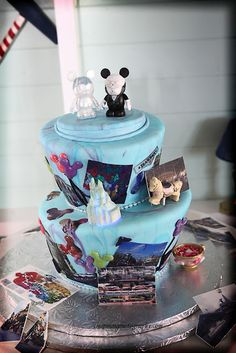 Cute Disney wedding cake