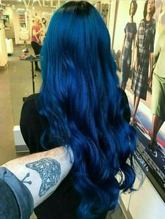 Blue Wigs Lace Hair Lace Frontal Wigs Synthetic Hair Wigs Princess Diana Wig Blue Hair Color For Black Hair Blue Wig, Hair Color For Black Hair, Cool Hair Color, Green Hair, Purple Hair, Ombre Hair, Dark Blue Hair, Deep Blue, Navy Blue