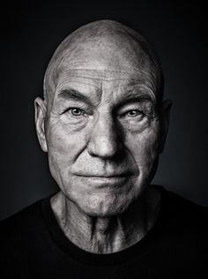 Sir Patrick Stewart - © All images are copyrighted to Andy Gotts Famous Portraits, Celebrity Portraits, Male Portraits, Foto Portrait, Portrait Photography, Old Man Portrait, Famous Photography, Inspiring Photography, Andy Gotts