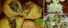 Vařené brambory plněné šunkou, sýrem a cibulkou Baked Potato, Mashed Potatoes, Tacos, Low Carb, Mexican, Cooking Recipes, Meat, Chicken, Baking