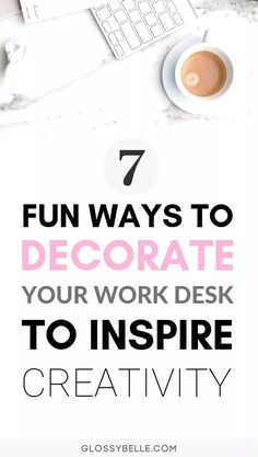 7 Work Office Decorating Ideas To Inspire Creativity & Productivity – Glossy Belle – Tips For The Best Organizations Work Desk Decor, Office Organization At Work, Office Decor, Cozy Office, Office Ideas, Work From Home Tips, Home Office Design, Office Style, Working Area