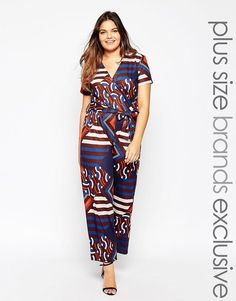 Pink Clove Geo Print Wide Leg Jumpsuit ** Want to know more, click on the image.