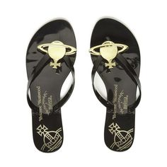 252e1bba296 Vivienne Westwood for Melissa Women s Harmonic Orb Flip Flops (155 AUD) ❤  liked on