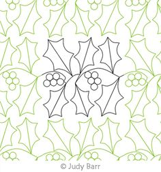 Digital Quilting Design Holly and Berries by Judy Barr. Longarm Quilting, Dear Santa, Digital Pattern, Quilting Designs, Quilt Patterns, Pattern Design, Berries, Quilts, Stitch