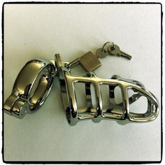 Stainless Steel Cock Cage – Lord Kink R 590.00  This stainless steel cock cage offers chastity and CBT enthusiasts the best of both worlds.