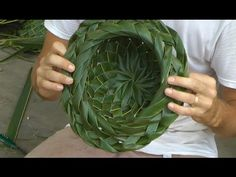 How to make a Coconut Palm Leaf Hat -  Part 2 of 2! - YouTube