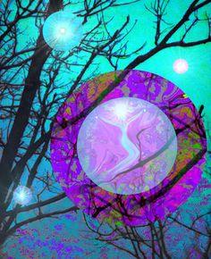Reiki Wall Decor Energy Art Chakra Healing Orbs 8 x 10 Print