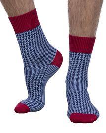 Cross men's luxury crew sock in navy Merino Wool Socks, Cotton Socks, Corgi Socks, Mens Designer Socks, Mens Crosses, Blue Crew, Dress Socks, Sock Shoes, England
