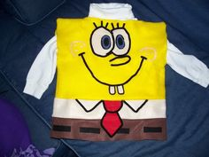 Spongebob - homemade costume made with felt!!!!