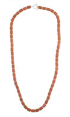 Pink Coral Southern Tiles Strand Necklace | jewelboxonline.com