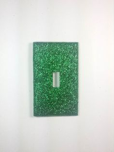 New STORE SALE!! -- Cute Sparkly Green Glitter Bling Decorative Light Switch Plate Cover - Wall Lighting Home Décor by VampedByVivian on Etsy