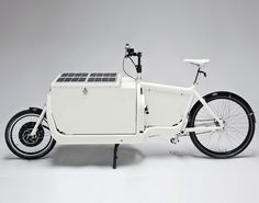 iBullitt Cargo eBike with solar energy by Urban-e | Shared from http://hikebike.net
