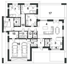 Projekt domu Klarowny D55 138,99 m² - koszt budowy - EXTRADOM Watercolor Architecture, Home Projects, Planer, House Plans, Floor Plans, Layout, House Design, How To Plan, House Styles