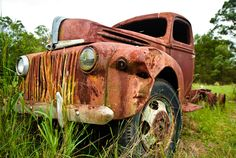 Rusty old Truck- wide angle lens used here | Flickr - Photo Sharing!