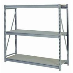 "Bulk Storage Rack Starter, 3 Tier, Particle Board, 72""Wx48""Dx72""H Gray by LYON WORKSPACE PRODUCTS. $405.95. Bulk Storage Rack Starter, 3 Tier, Particle Board, 72""Wx48""Dx72""H Gray Heavy gauge steel uprights and beams. Adjustable on 1-1/2"" centers. 1650-3300 lbs. capacity per pair of beams. Weight Capacity based on evenly distributed load. 10,000 lbs. per upright assembly."