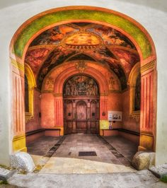 Entrance to the old Camaldolese Monastery. Bielany in Kraków, Poland.