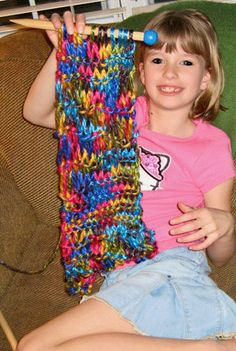 teach kids how to knit gifts for the entire family