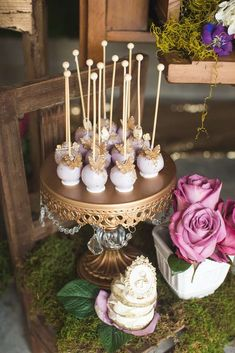 Enchanted Garden Birthday Party Ideas on Catch My Party ~ Antique Gold Chandelier Ball Base Cake Stand created by Opulent Treasures // photo: Philip Siciliano Photography // Desserts Table created by Jackie Budansky of Couture Creations NYC INC. Butterfly Garden Party, Butterfly Birthday Party, Butterfly Baby Shower, Fairy Birthday Party, Garden Birthday, Birthday Parties, Cake Birthday, Party Garden, Glitter Birthday