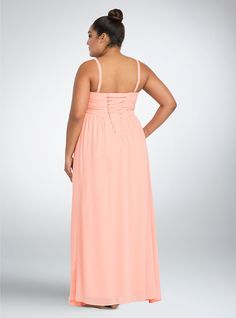 Special Event Bejeweled Pleated Chiffon Gown   Torrid