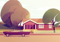 Self-initiated illustrations on neighbourhood scenes