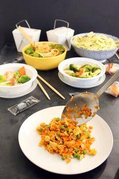 "Part 1, Takeout Fakeout: Vegetarian Sweet Potato ""Fried Rice"" - use Japanese Sweet Potato?"