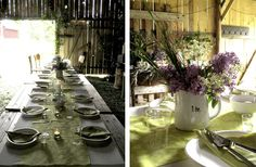 Midsummer party in an old barn and the Midsummer pole.