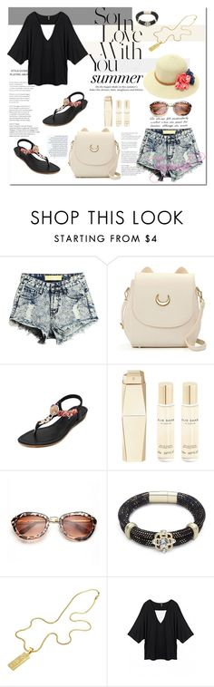 """street style - casual outfits - Togemall"" by togemall ❤ liked on Polyvore featuring Elie Saab, H&M, denim, shorts, polyvorefashion and togemall"