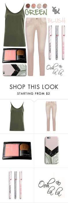 """#Green&Blush"" by juromi ❤ liked on Polyvore featuring VILA, IRO, Terre Mère, GREEN and blush"