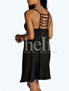 Shop Black Spaghetti Strap Backless Dress online. SheIn offers Black Spaghetti Strap Backless Dress & more to fit your fashionable needs.