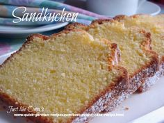Traditional German Pound Cake: Sandlkuchen So good and so easy. Check out http://www.quick-german-recipes.com/best-pound-cake-recipe.html and make it today!:
